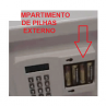 Compartimento de Pilhas externo, dispensa o uso de kit emergencial!